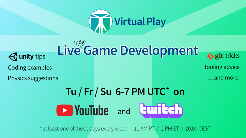 Live Game Development Streaming