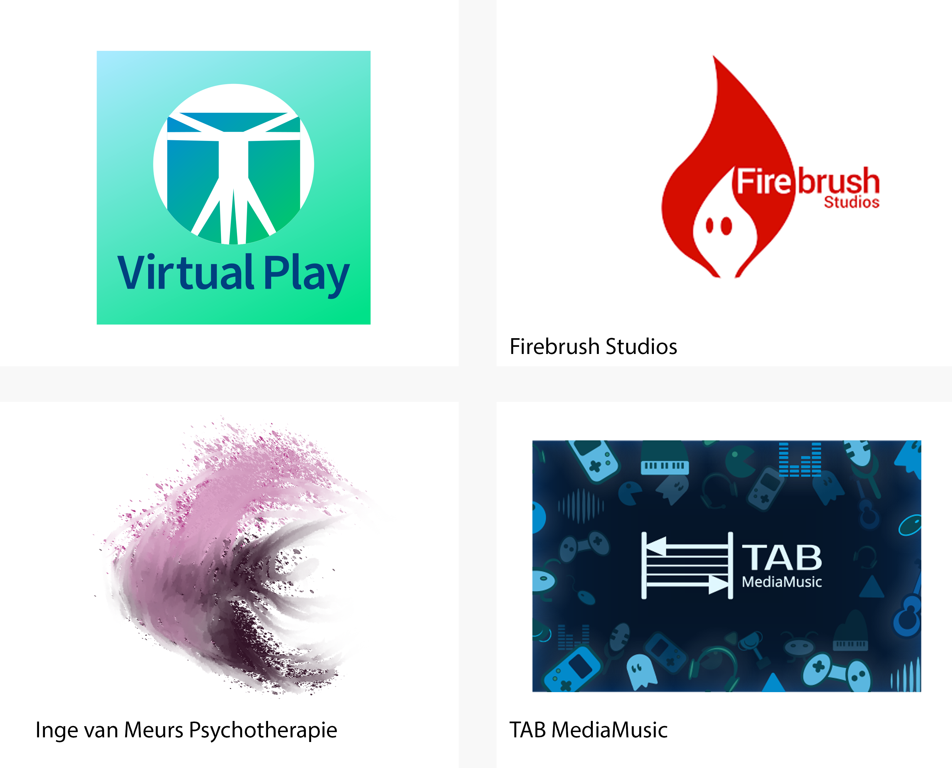 Logos, websites and business cards – Virtual Play
